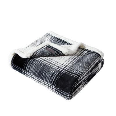 """50""""x60"""" Vail Plaid Throw Blanket Gray - Eddie Bauer"""