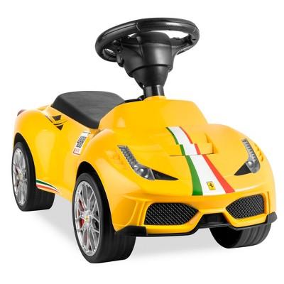 Best Choice Products Kids Licensed Ferrari 458 Sports Car Ride On Push Pedal Vehicle w/ Steering WheelHorn
