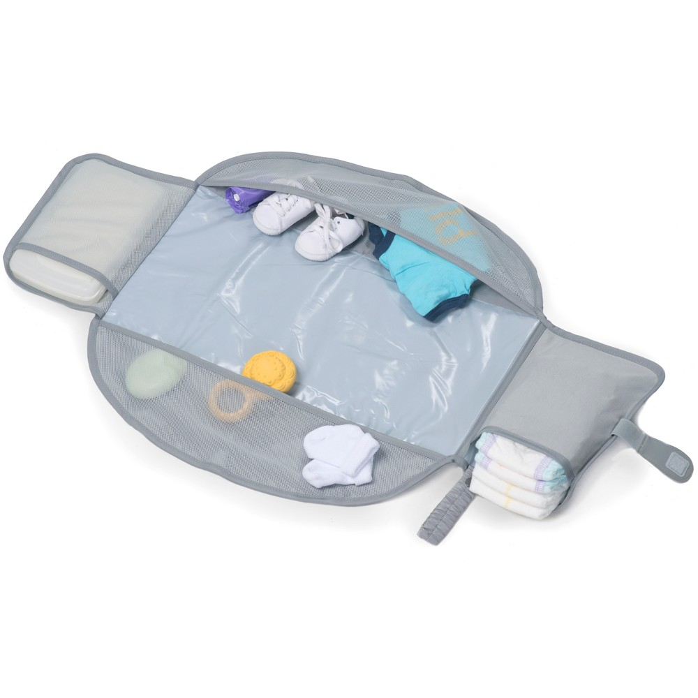 Image of Lulyboo Portable Diaper Changing Pad with Storage Compartments, Gray