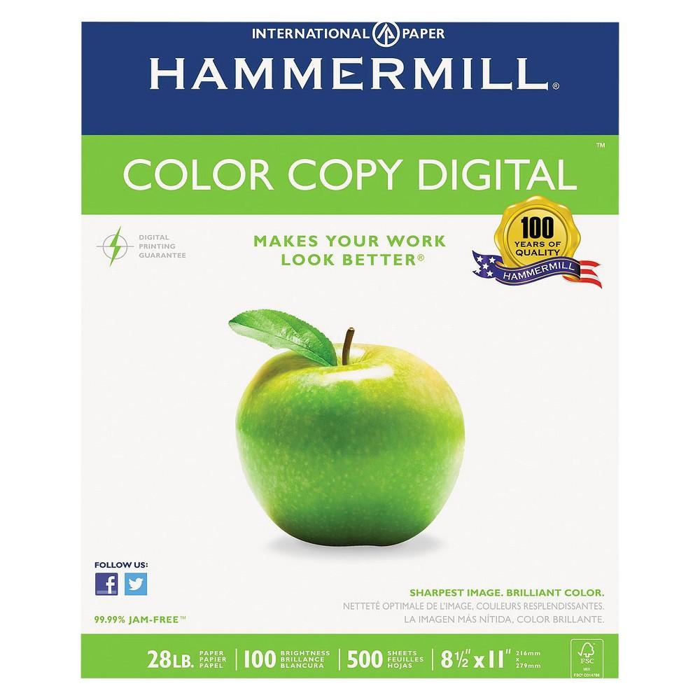 Hammermill Color Copy Digital Paper, 100 Brightness, 28 lb - White (500 Per Ream)