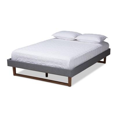 Liliya Walnut Finished Wood Platform Bed Frame - Baxton Studio