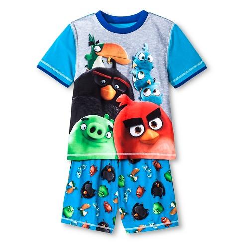 Boys' Angry Birds 2pc Pajama Set - Blue S - image 1 of 1