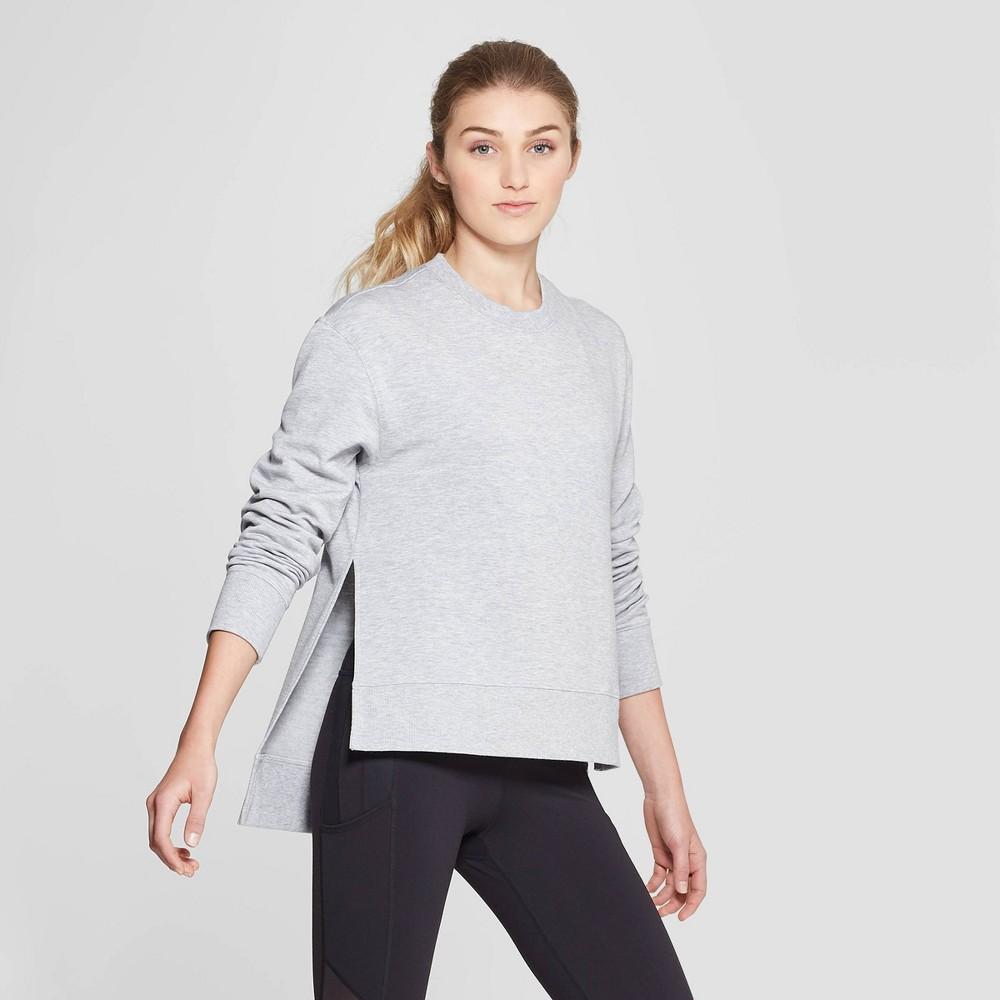 Women's Cozy Layering Sweatshirt - JoyLab Heather Grey XS