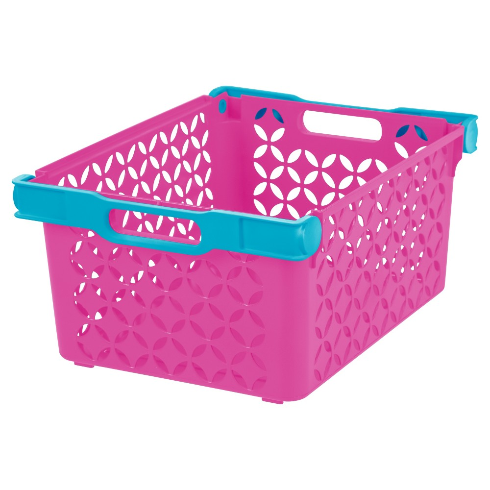 Iris Large Cube Storage Basket - 8pk, Pink, Absolutely Pink