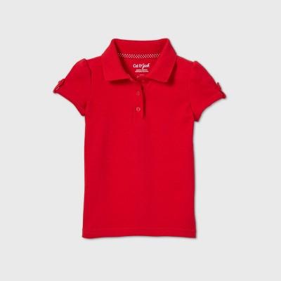 Toddler Girls' Short Sleeve Interlock Uniform Polo Shirt - Cat & Jack™