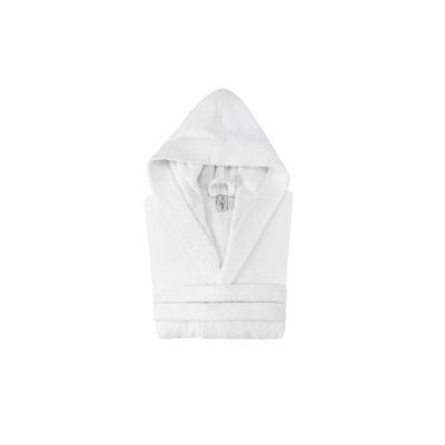 Hooded Turkish 100% Cotton Bathrobe White - Enchante Home