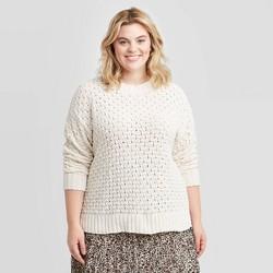 Women's Plus Size Matte Chenille Pullover Sweater - Ava & Viv™