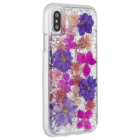 sale retailer bc5d8 9d9d8 Case-Mate iPhone X Case Karat Petals - Purple