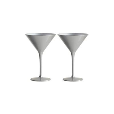 8oz 2pk Crystal Olympia Martini Glasses Silver - Stoelzle