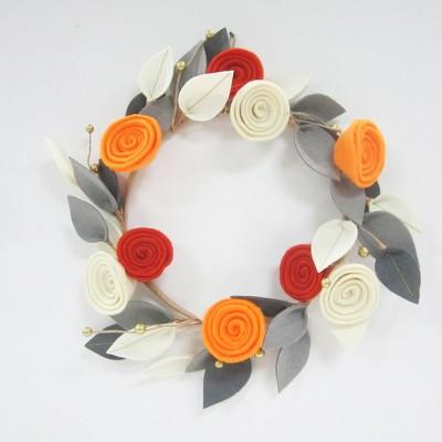 Halloween Floral Felt Wreath - Hyde and Eek! Boutique™