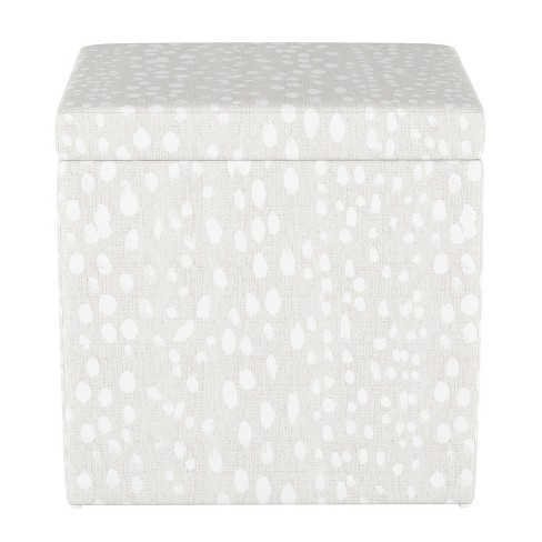 Groovy Plano Storage Ottoman Ivory Leopard Print Project 62 Ncnpc Chair Design For Home Ncnpcorg