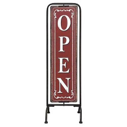 "Metal Framed ""Open/Closed"" 2-Sided Sign Wall Dcor - 3R Studios"