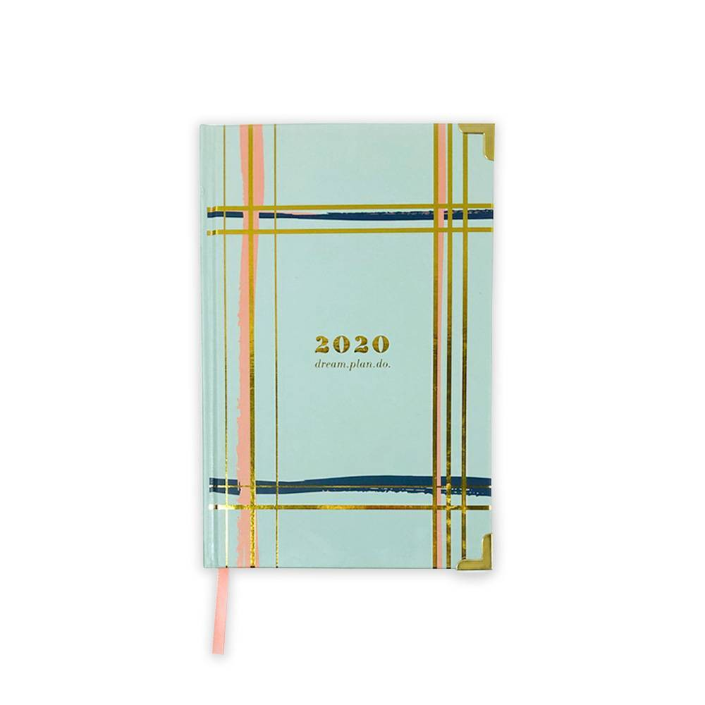 "Image of ""2020 Planner 6"""" x 9"""" Painted Plaid - lake + loft"""