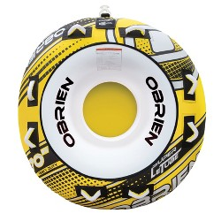 O'Brien Super Le Tube 70 Inch 2 Person Towable Boat Water Inner Tube, Yellow