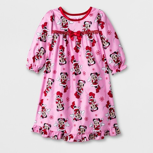 9ef0ce0f1 Baby Girls  Minnie Mouse Nightgown - Pink 18M   Target