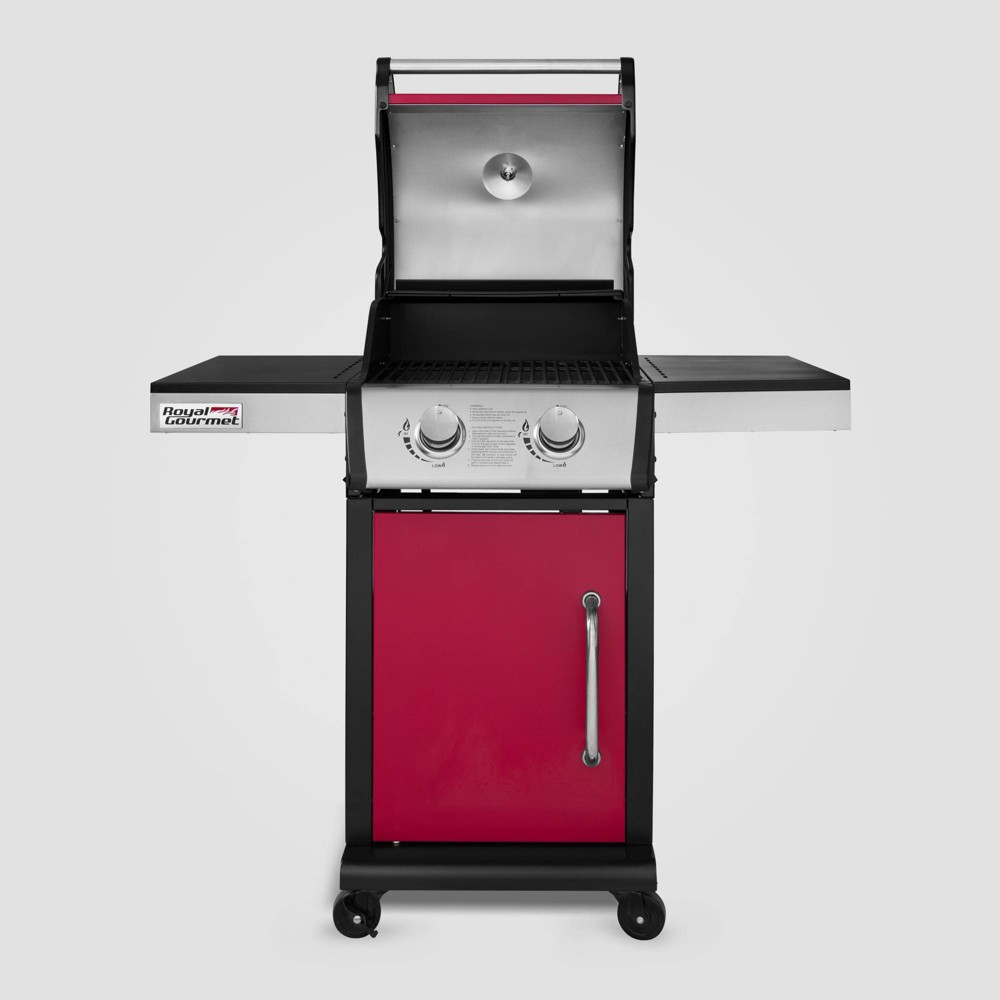Image of 2 Burner Propane Gas Grill GG2102 Red - Royal Gourmet