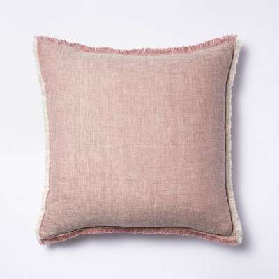Linen Throw Pillow With Contrast Frayed Edges Threshold Designed With Studio Mcgee Target