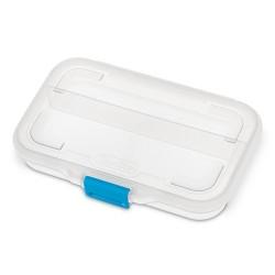 Sterilite Pencil Box - Clear/Blue