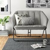 Double Hexagon Chair Gray - Room Essentials™ - image 2 of 4