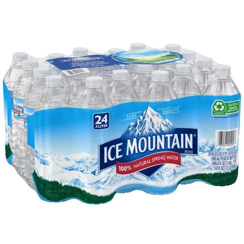 Ice Mountain Brand 100% Natural Spring Water - 24pk/16.9 fl oz Bottles - image 1 of 4
