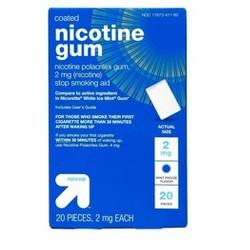 Coated Nicotine 2mg Gum Stop Smoking Aid - Mint Freeze - Up&Up™