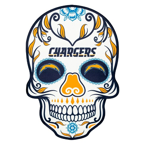 NFL Los Angeles Chargers Small Outdoor Skull Decal - image 1 of 2
