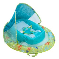 Swimways Infant Baby Spring Float with Canopy - Green