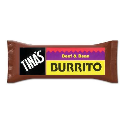 Tina's Beef and Bean Frozen Burrito - 4oz