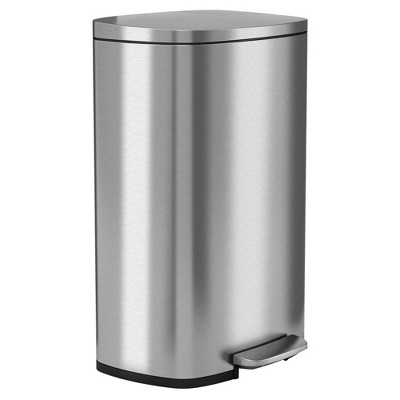 halo quality 13gal Premium SoftStep Stainless Steel Step Trash Can