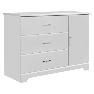 Storkcraft Brookside 3-Drawer Combo Dresser - White