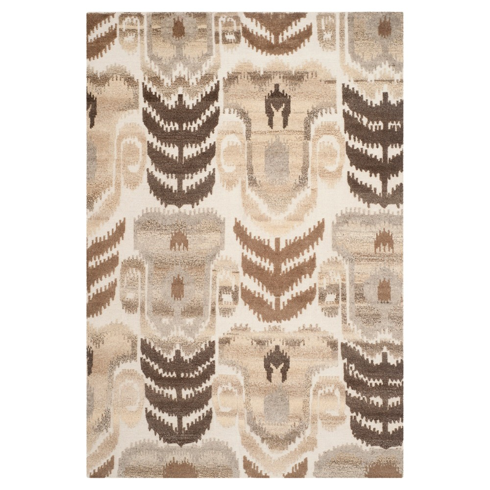 Natural Abstract Knotted Area Rug - (6'X9') - Safavieh, White