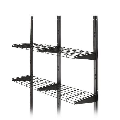 Suncast BMSA1S Versatile Heavy-Duty Wire Shed Storage Tier Shelf Storage Kit  (2 Pack)