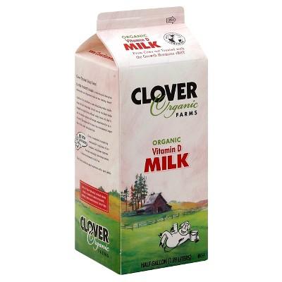 Clover Organic Farms Milk - 0.5gal