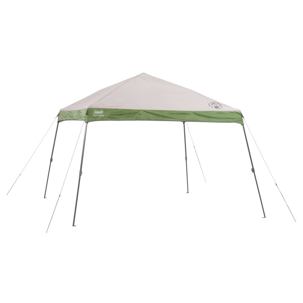 Image of Coleman 12' X 12' Wide Base Canopy Sun Shelter Tent with Instant Setup - Green