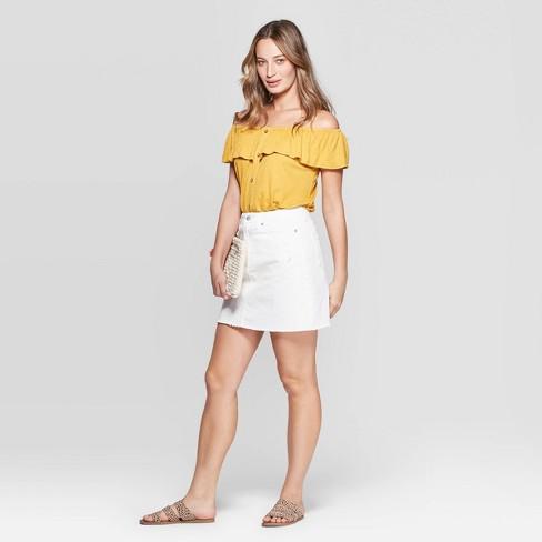 aa6f269809 Women's Destructed Denim Mini Skirt - Universal Thread™ White. Shop all Universal  Thread