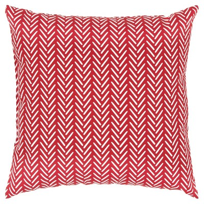 """22""""x22"""" Oversize Poly-Filled Chevron Print Indoor/Outdoor Square Throw Pillow - Rizzy Home"""
