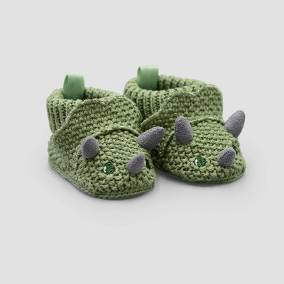 Baby Boys' Dino Knitted Bootie Slippers - Just One You® made by carter's Green