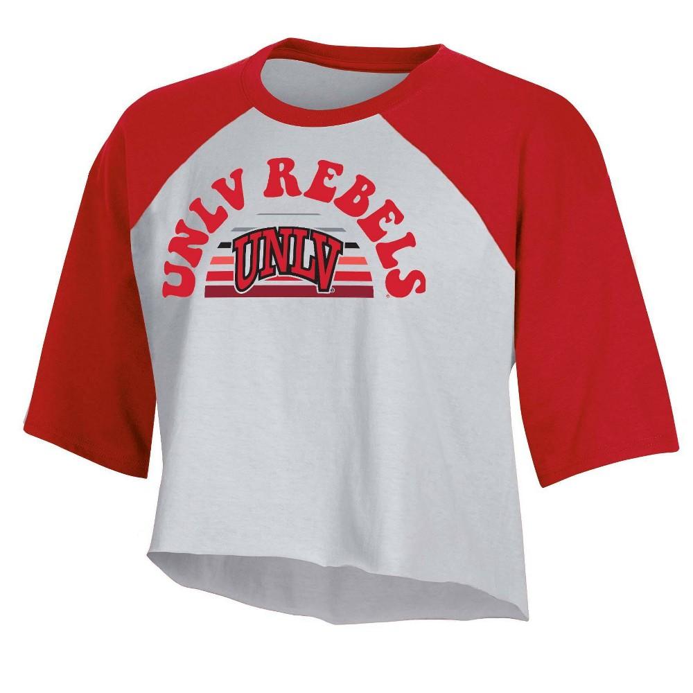 Ncaa Unlv Rebels Women 39 S Short Sleeve Cropped T Shirt L