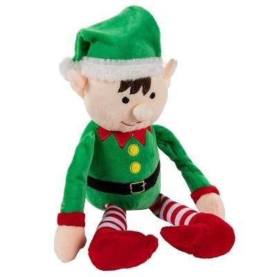 Christmas Elf Plush Toy - Mas The Elf, Little Santa Helper Kids Soft Stuffed Toy