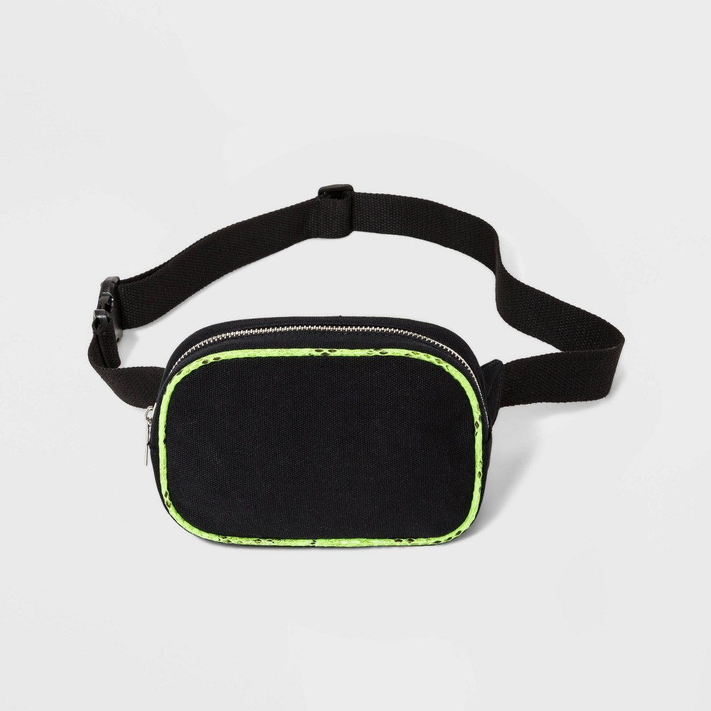 Women's Fanny Pack With Green Trim - Wild Fable Black