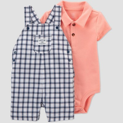 Baby Boys' Gingham Top & Bottom Set - Just One You® made by carter's Blue 3M
