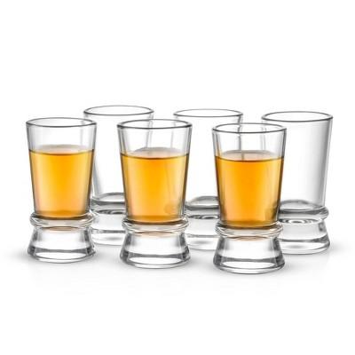 JoyJolt Afina Collection Heavy Base Shot Glasses - Set of 6 Shot Glass - 1.5-Ounces