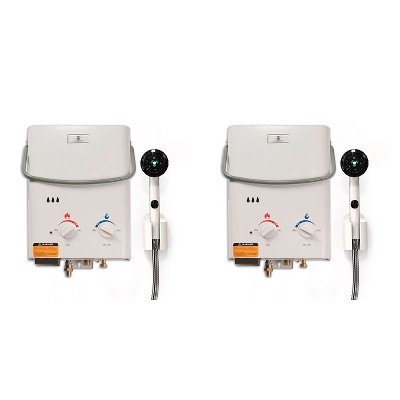 Eccotemp L5 Portable Liquid Propane Outdoor Tankless Hot Water Heater (2 Pack)