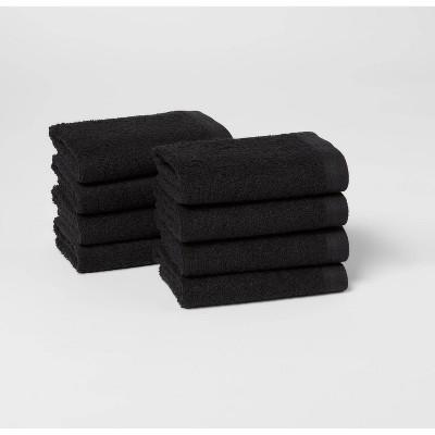 8pk Washcloth Set Black - Room Essentials™