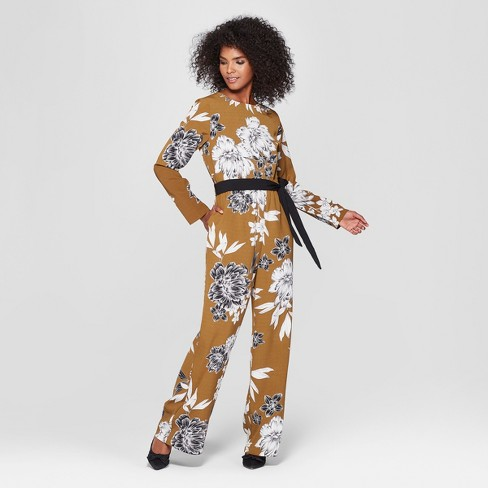 Women's Long Sleeve Crew Neck Jumpsuit - Who What Wear™ - image 1 of 3