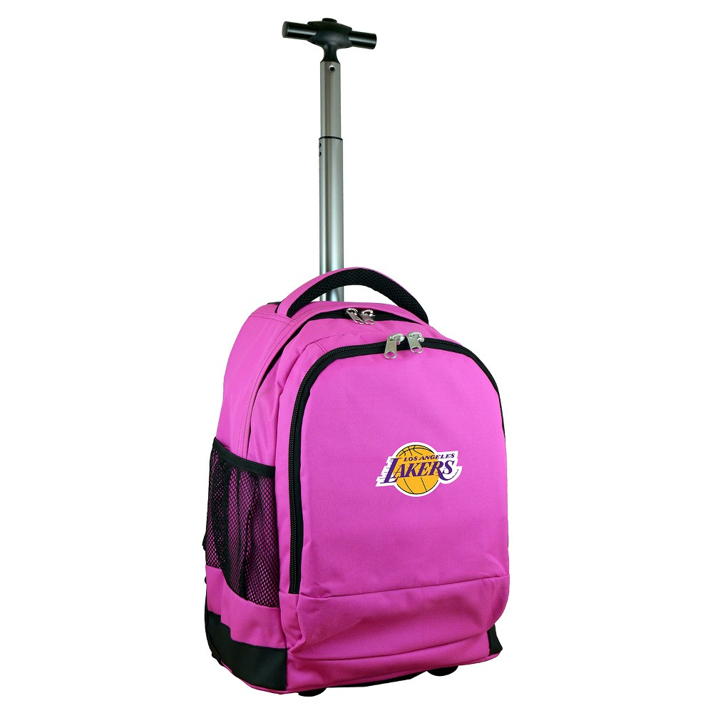 NBA Los Angeles Lakers Mojo Premium Wheeled Backpack - Pink