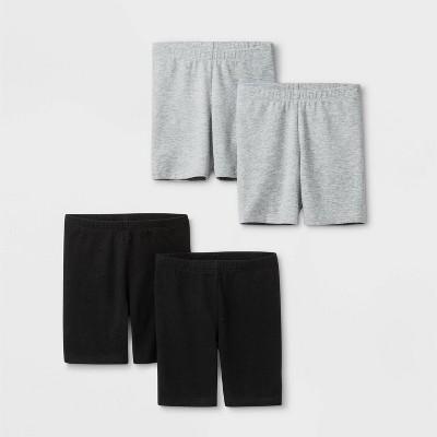 Toddler Girls' 4pk Bike Shorts - Cat & Jack™ Black/Gray