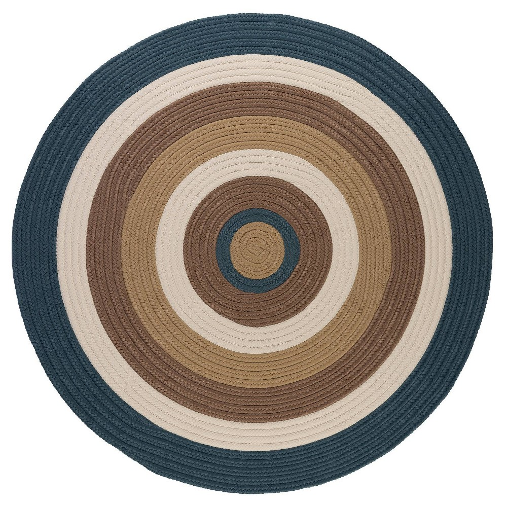 Round Mountain Top Braided Area Rug Blue