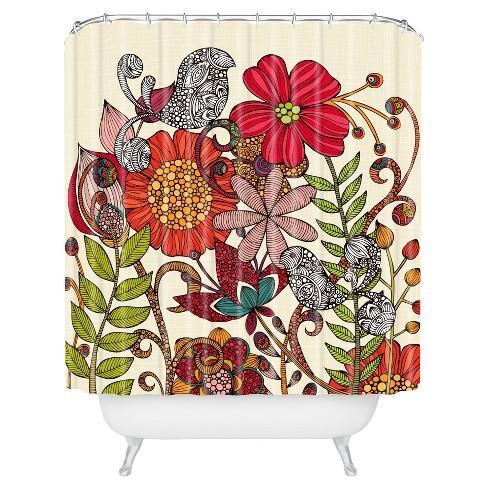 Valentina Ramos Harmonia Shower Curtain Red - Deny Designs - image 1 of 1