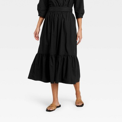 Women's Tiered A-line Midi Skirt - A New Day™